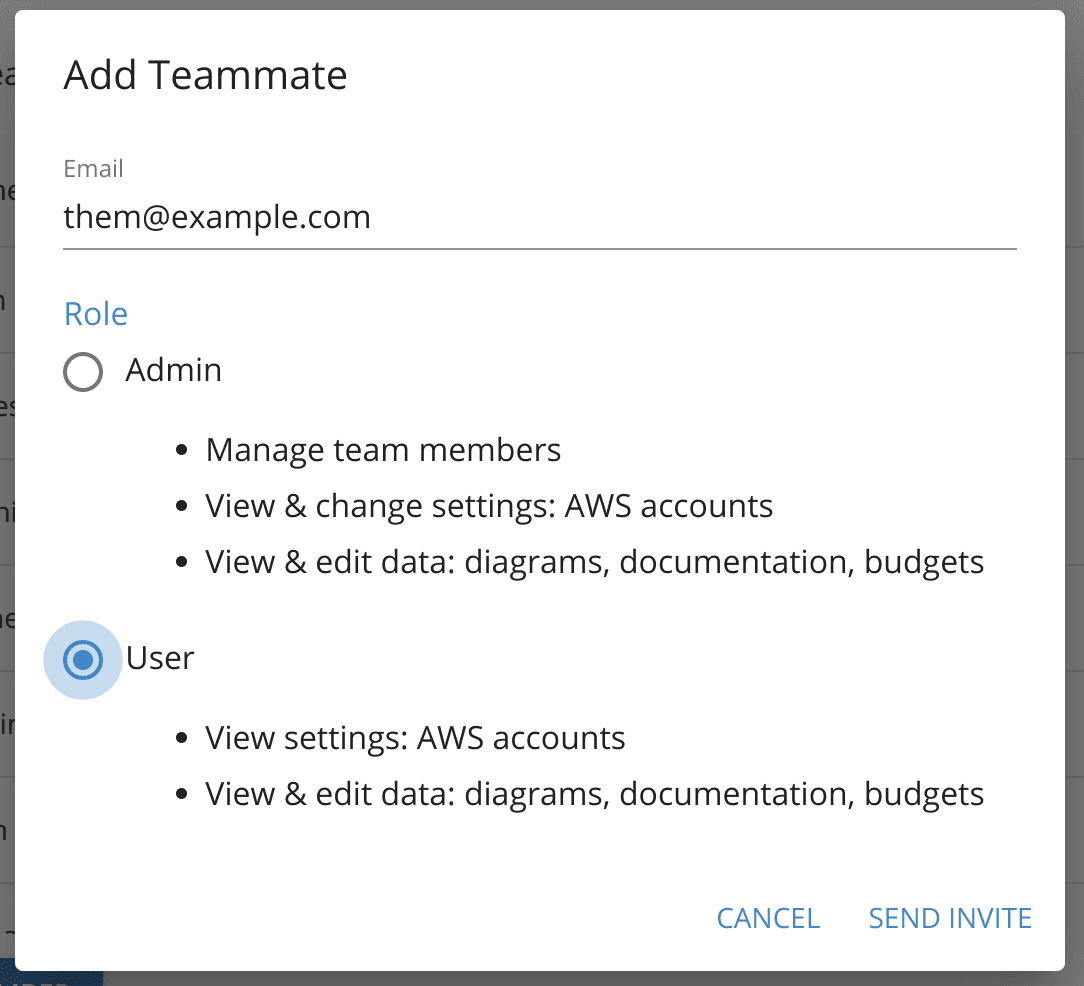 Add an user to your team