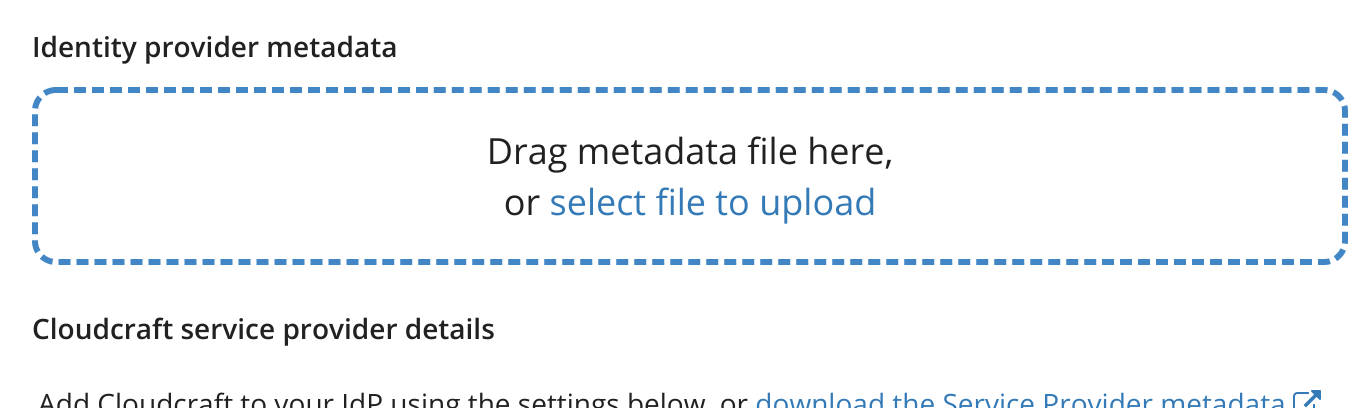Upload metadata from your provider
