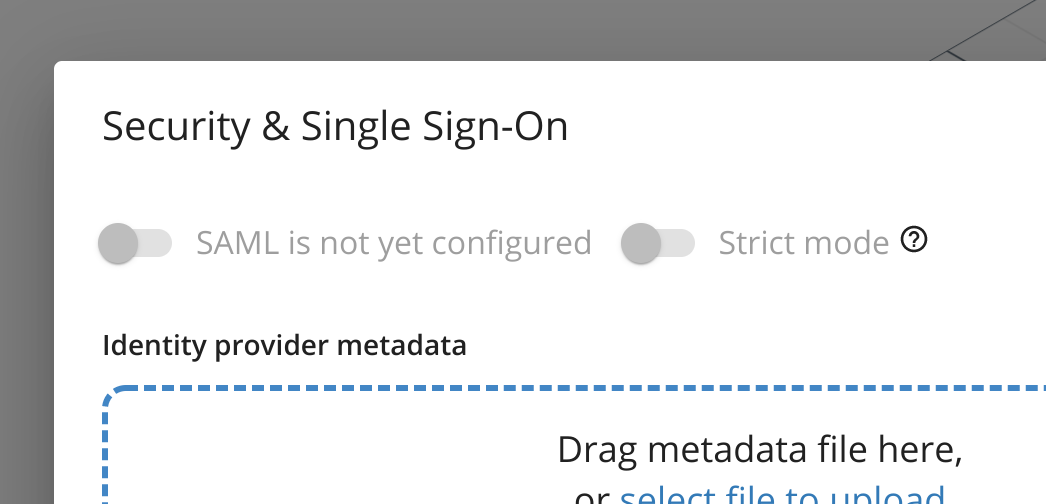 Security & Single Sign-On
