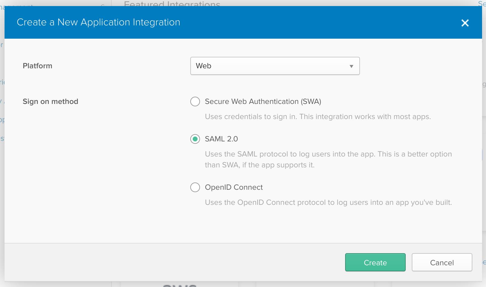 SAML 2.0 integration