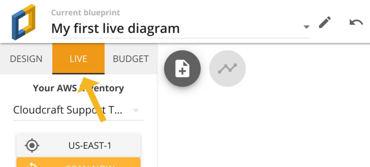 The live tab inside Cloudcraft